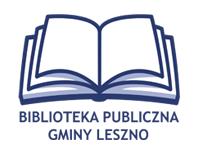 logo - Biblioteka Publiczna Gminy Leszno